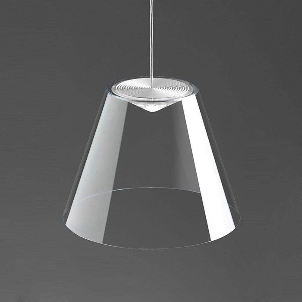 Dina LED-Pendelleuchte Ø 20cm Transparent 1
