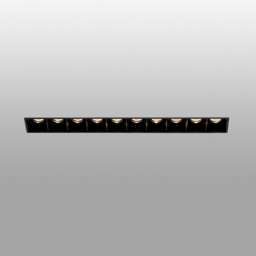 LED Einbaulampe TROOP Trimless 10x2W 3000K Schwarz