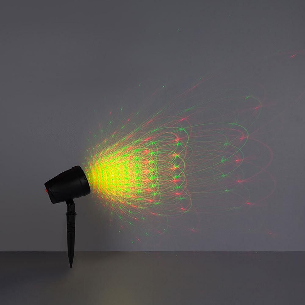 Laser Außenleuchte Meriton Laser mit Erdspitz 30m Schwarz 1
