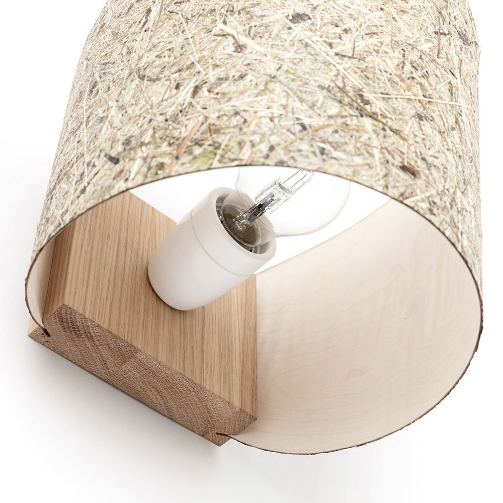 Holz Wandleuchte mit Schirm Zylindrisch thumbnail 4