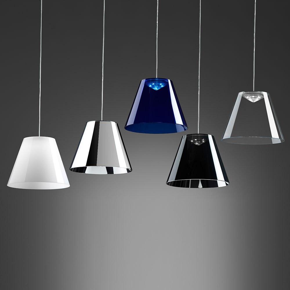 Dina LED-Pendelleuchte Ø 20cm Transparent 3