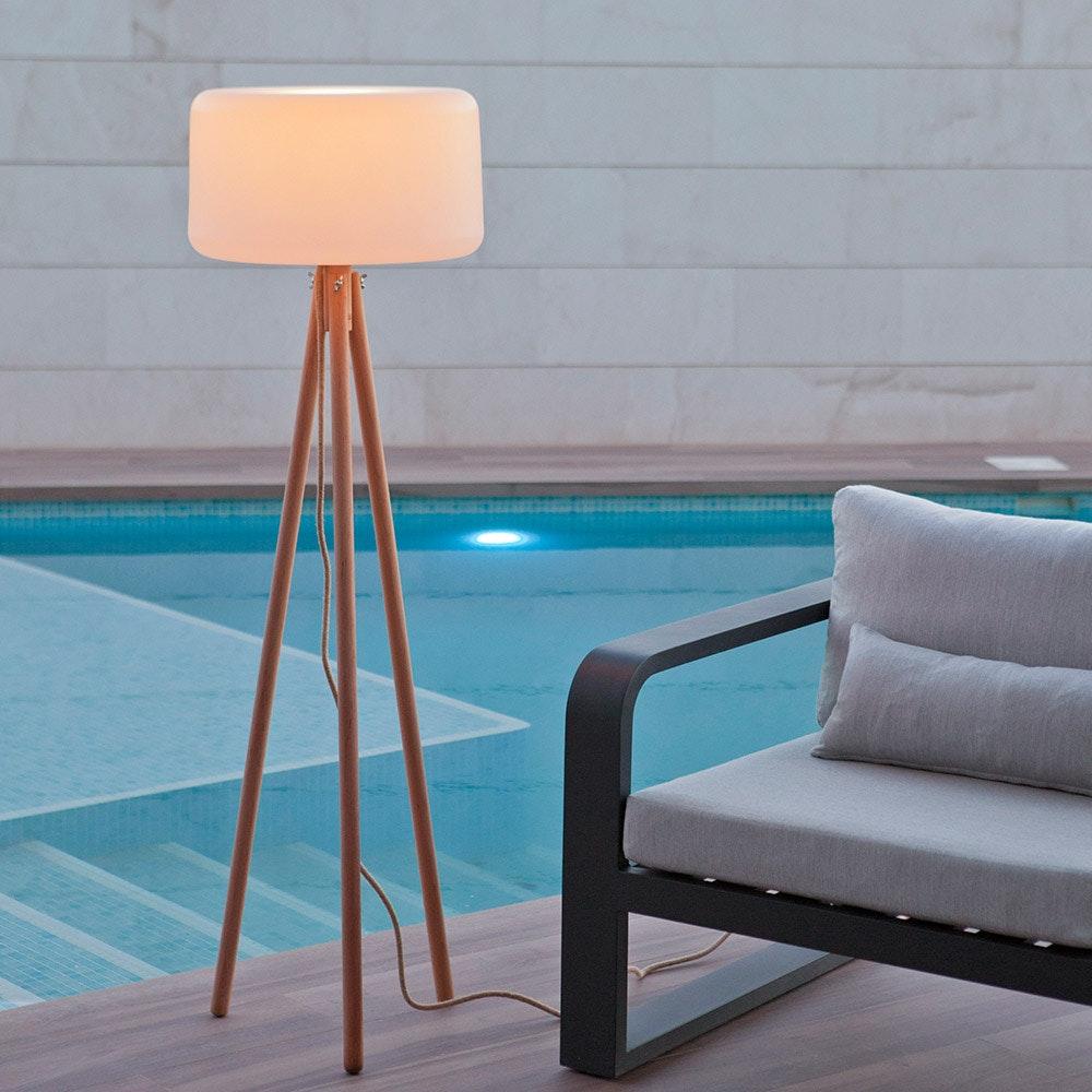Licht-Trend Dreibein LED-Stehleuchte Chloe mit Akku und Fernbedienung