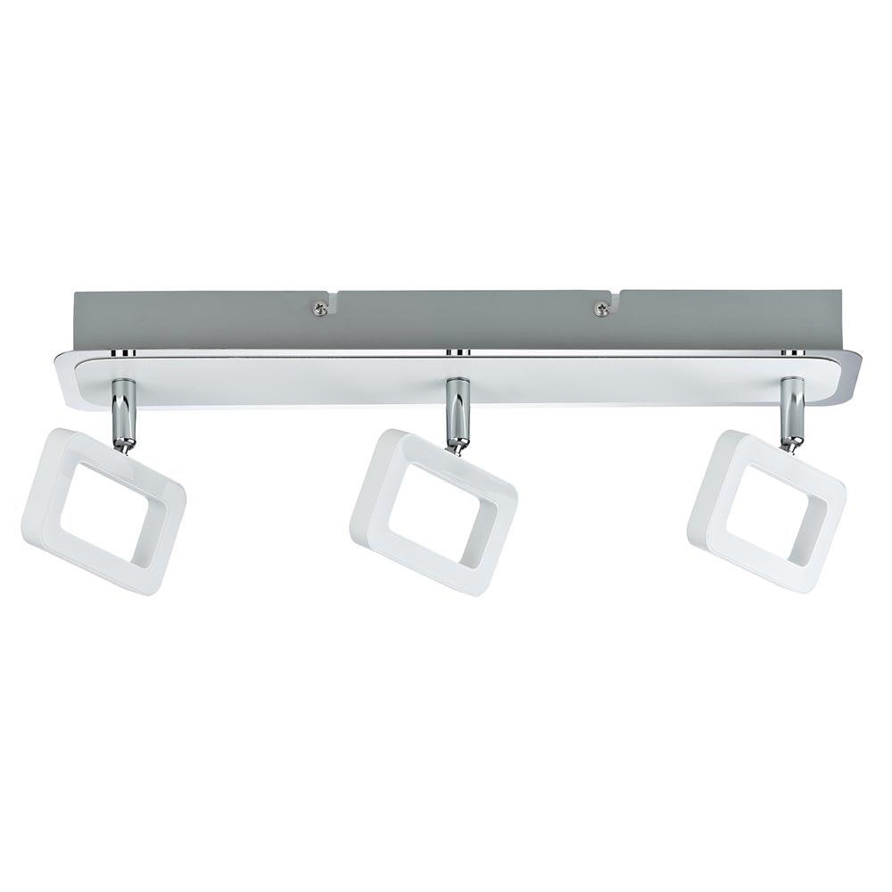 Strahler Frame LED 3-flammig Weiß Chrom 3x4, 5W 2