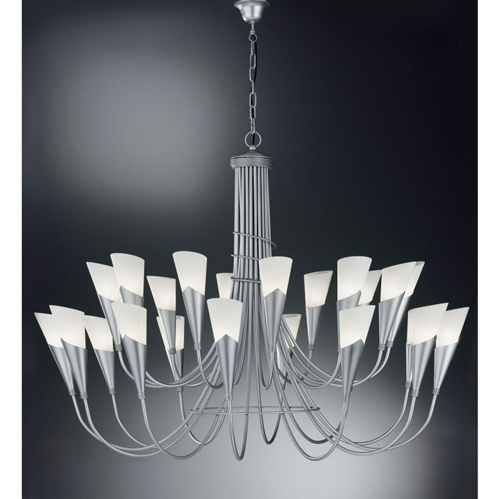 Campagnola Brillant-Silber 24-flammig Ø 120cm