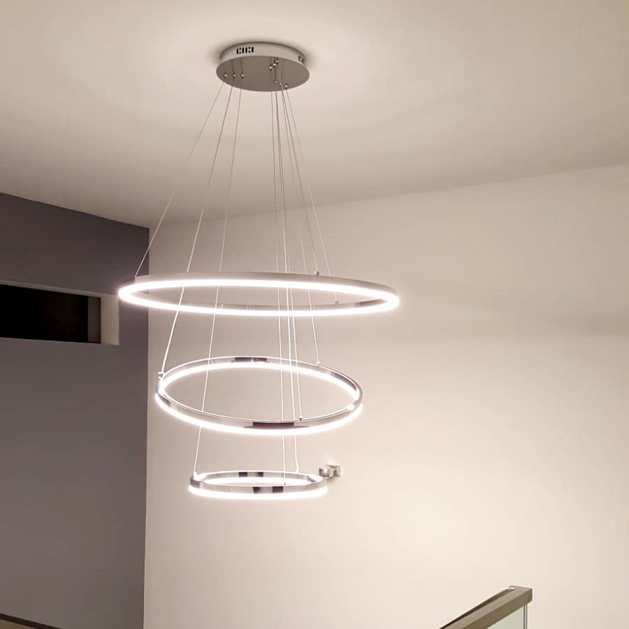 s.LUCE Ring 80 LED Pendellampe 5m Aufhängung 5