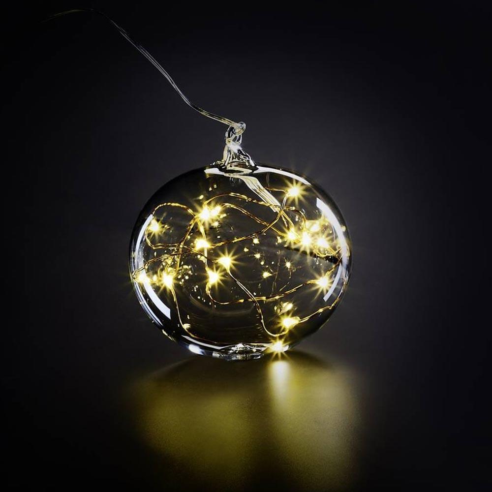 Krinner LED Christbaumkugel Lumix Lightball Klar