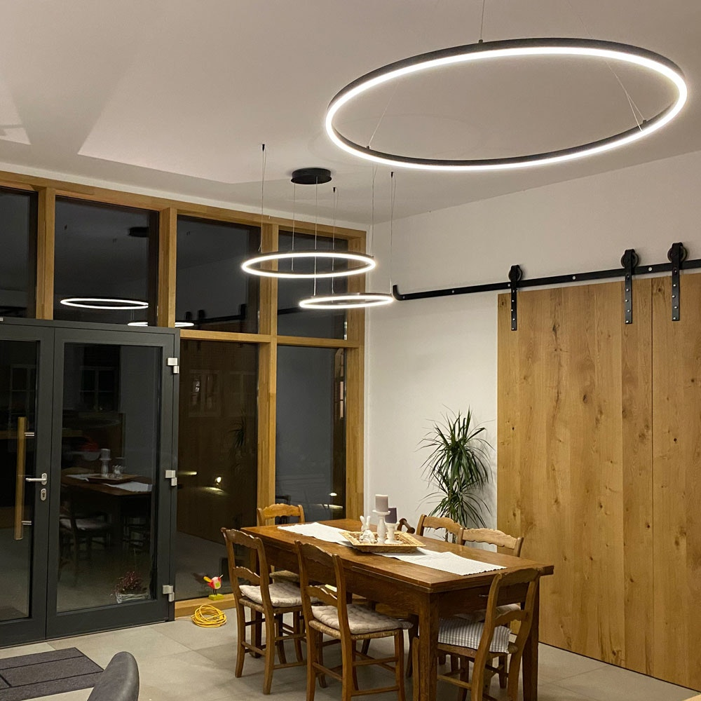 s.LUCE Ring 100 LED Hängelampe 5m Abhängung 8