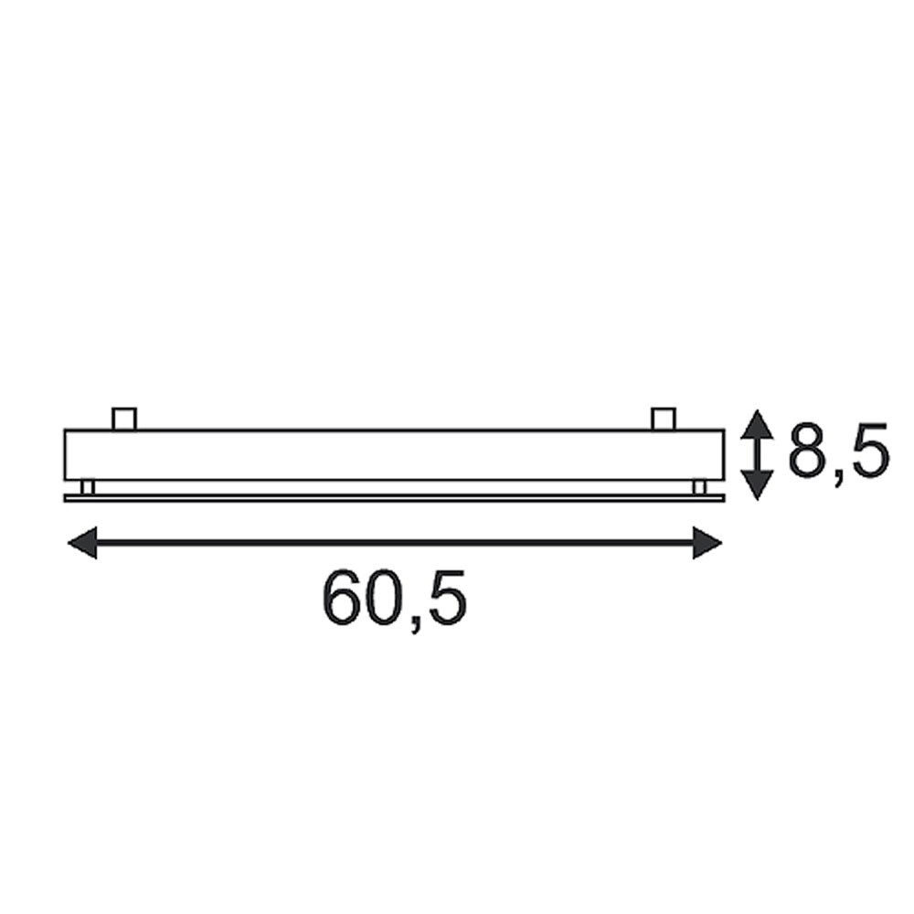 SLV T5 Grill UNI Wand- und Deckenleuchte eckig weiss 4xG5 4x24W 2