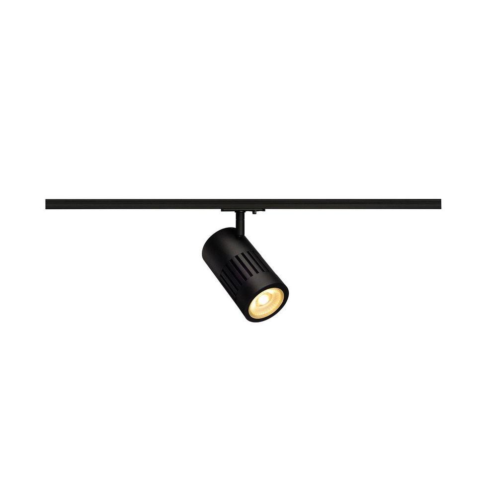 SLV Structec LED 24W rund Schwarz 3000K 60° inkl. 1P.-Adapter