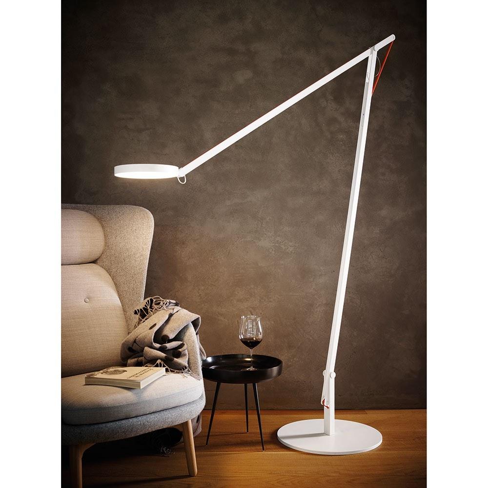 String XL LED-Stehleuchte mit Dimmer Schwarz-Orange 5
