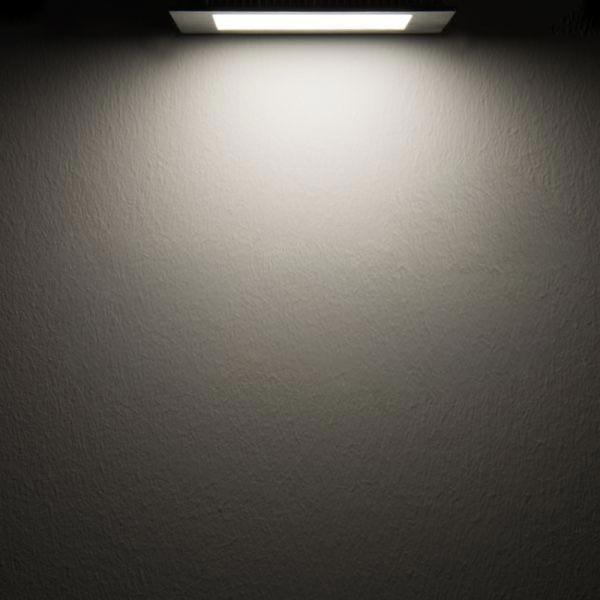 LED Einbaupanel 19 x 19cm flach eckig silber dimmbar 15W neutralweiß 2