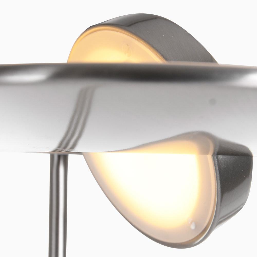 Steinhauer LED-Deckenfluter Zenith mit Lesearm & Tastdimmer CCT 2