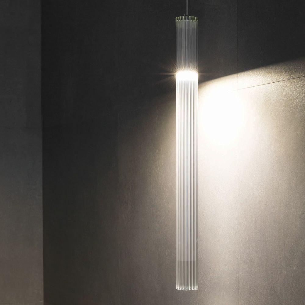 Nemo Ilium 75 LED Glas Hängelampe gerippt 1