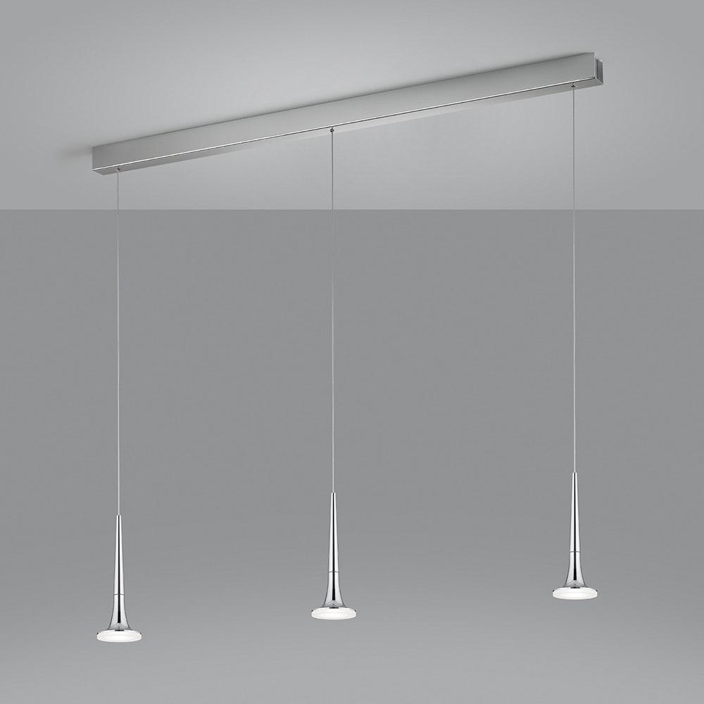 Helestra LED Pendelleuchte Flute Chrom 1