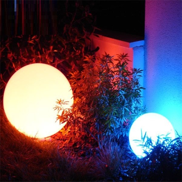 Licht-Trend Garten Kugellampe Avellan Ø60cm mit Erdspieß, 5 Meter Kabel 7