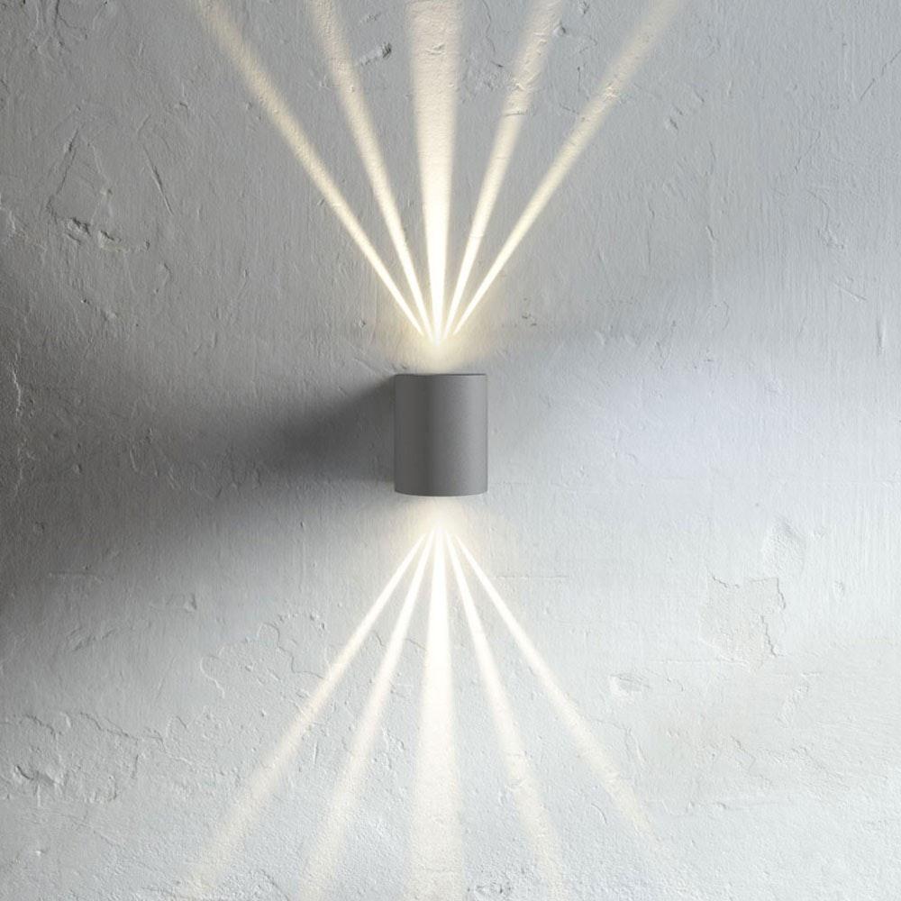 Baleno Aussen LED-Wandlampe + Lichtfilter Grau
