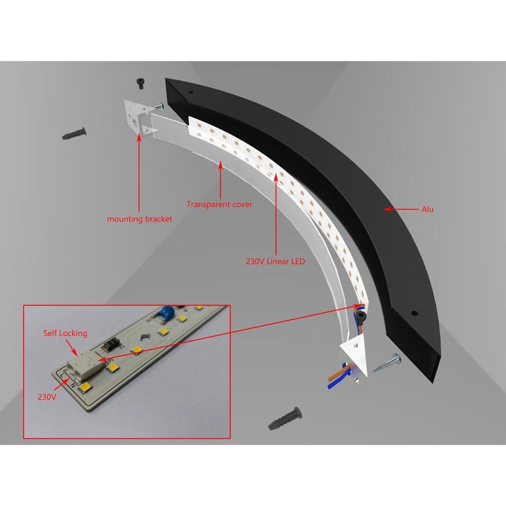 s.LUCE Ring L indirekte LED-Wandleuchte 66cm 8