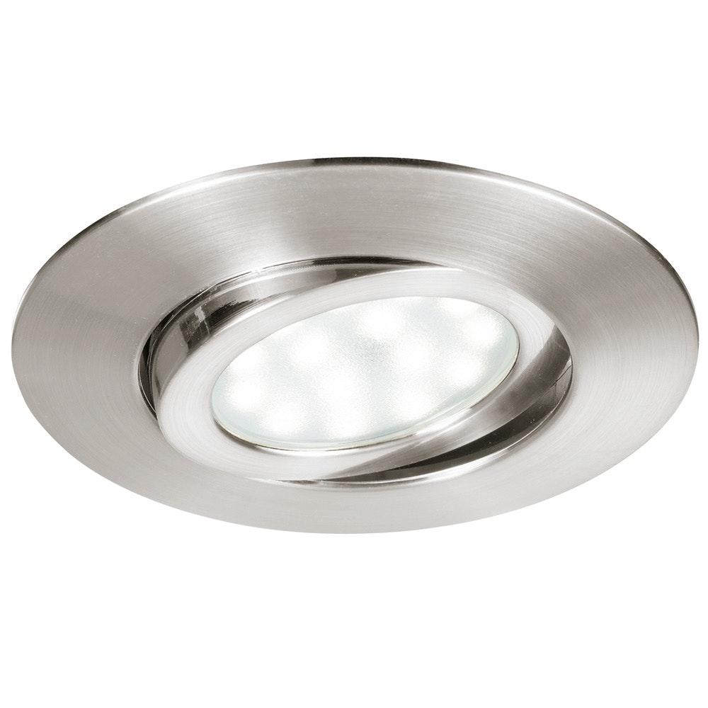 LED Einbaulampe Movibile IP44 Nickel