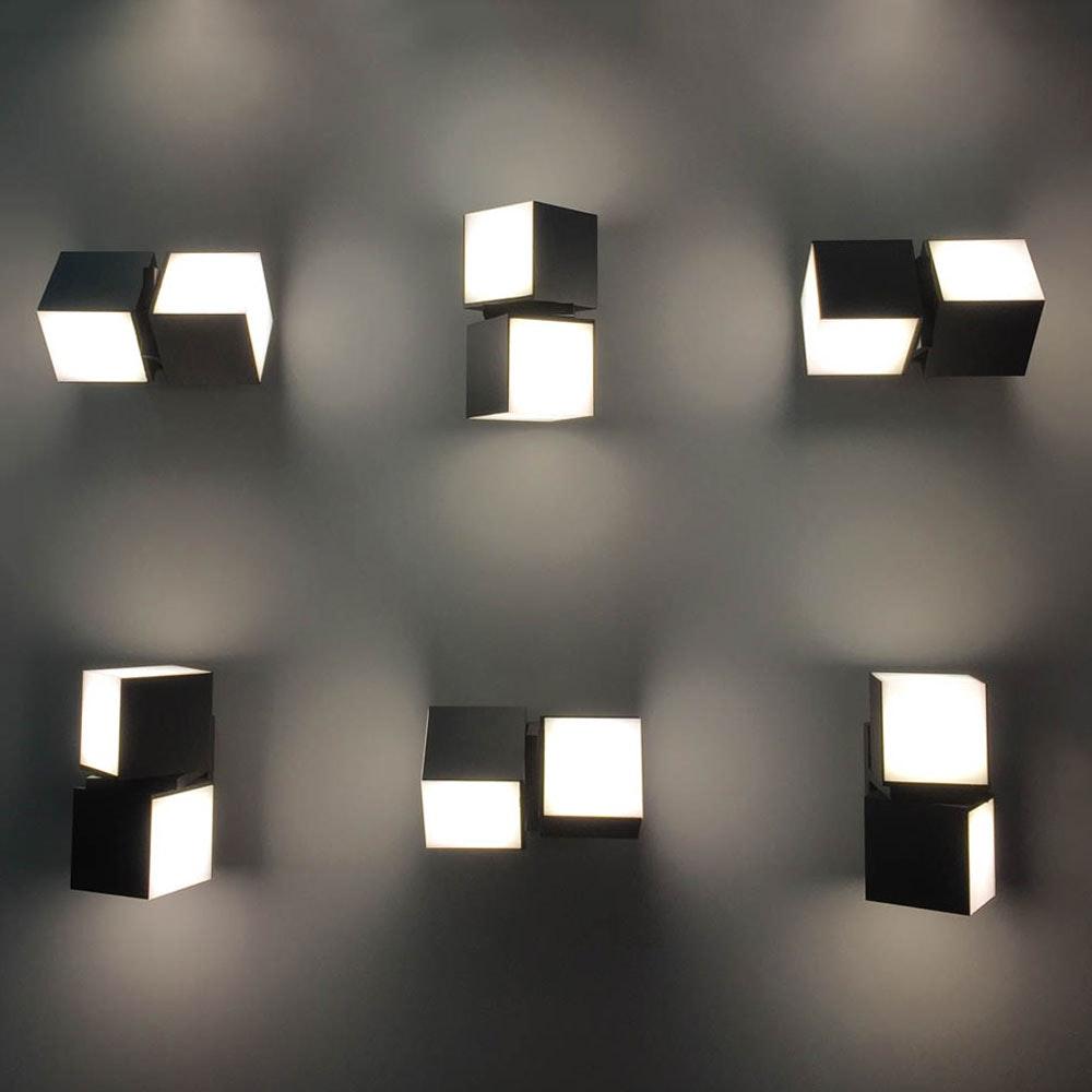 Drehbare LED-Außenwandleuchte Cuba IP54 Anthrazit