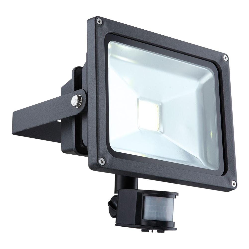 LED-Fluter + Sensor Aussenstrahler mit energieeffizienter LED-Technik