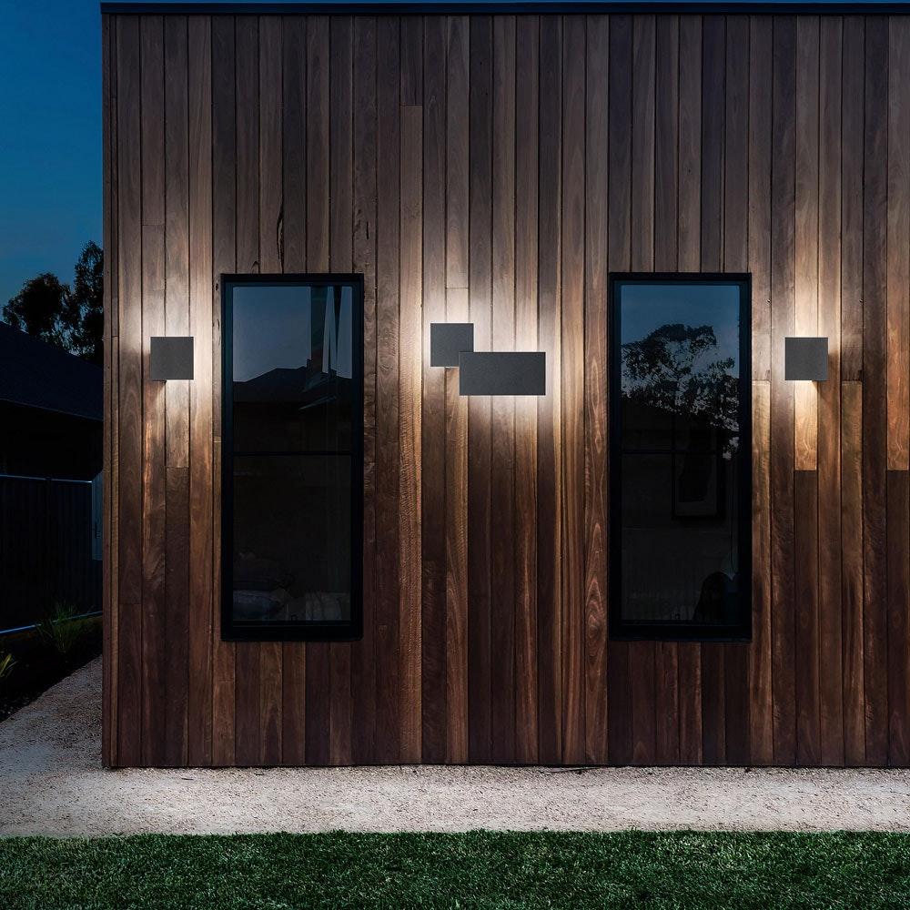 Studio Italia Design Puzzle Outdoor Double Square LED Wandleuchte 2