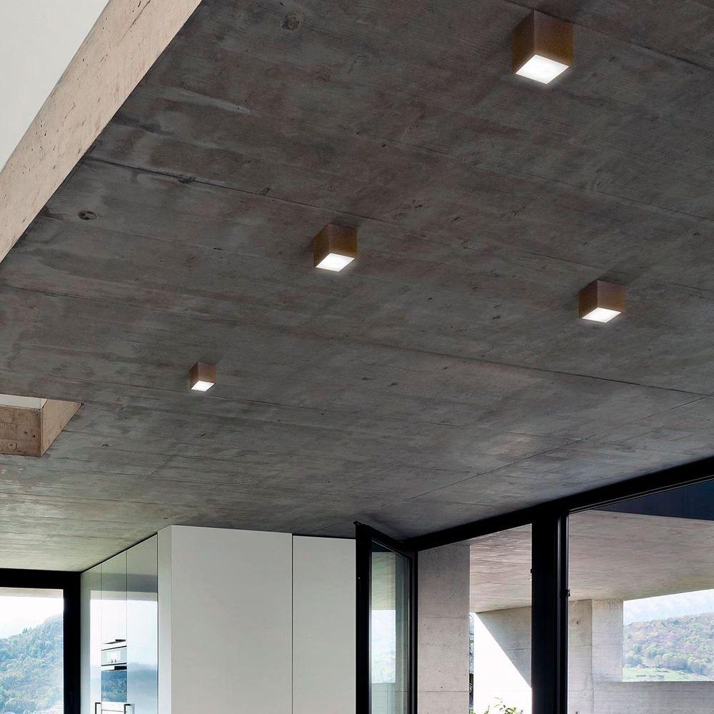 Panzeri Three LED-Deckenlampe Würfelform 2