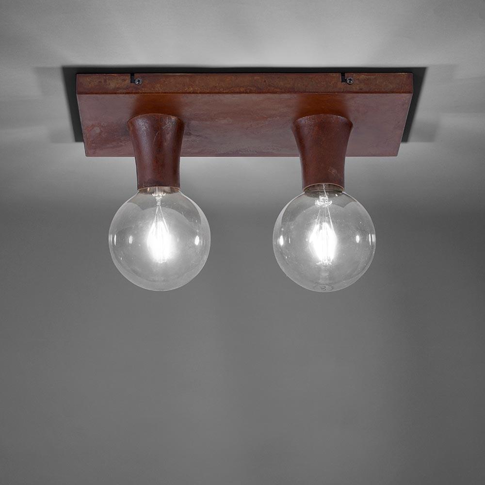 Deckenlampe Turn Me 2-flg. Rostfarben 1