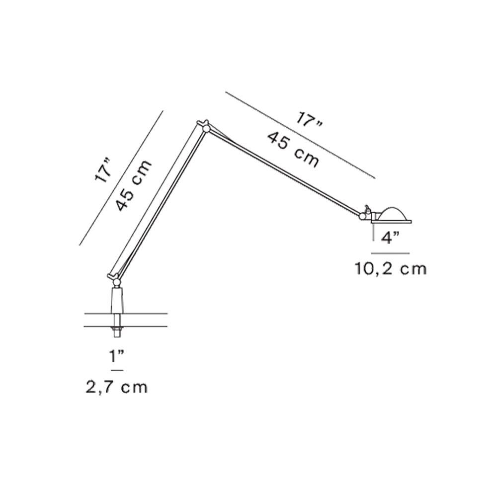 Luceplan Berenice Schreibtischlampe mit Befestigungsstift thumbnail 4