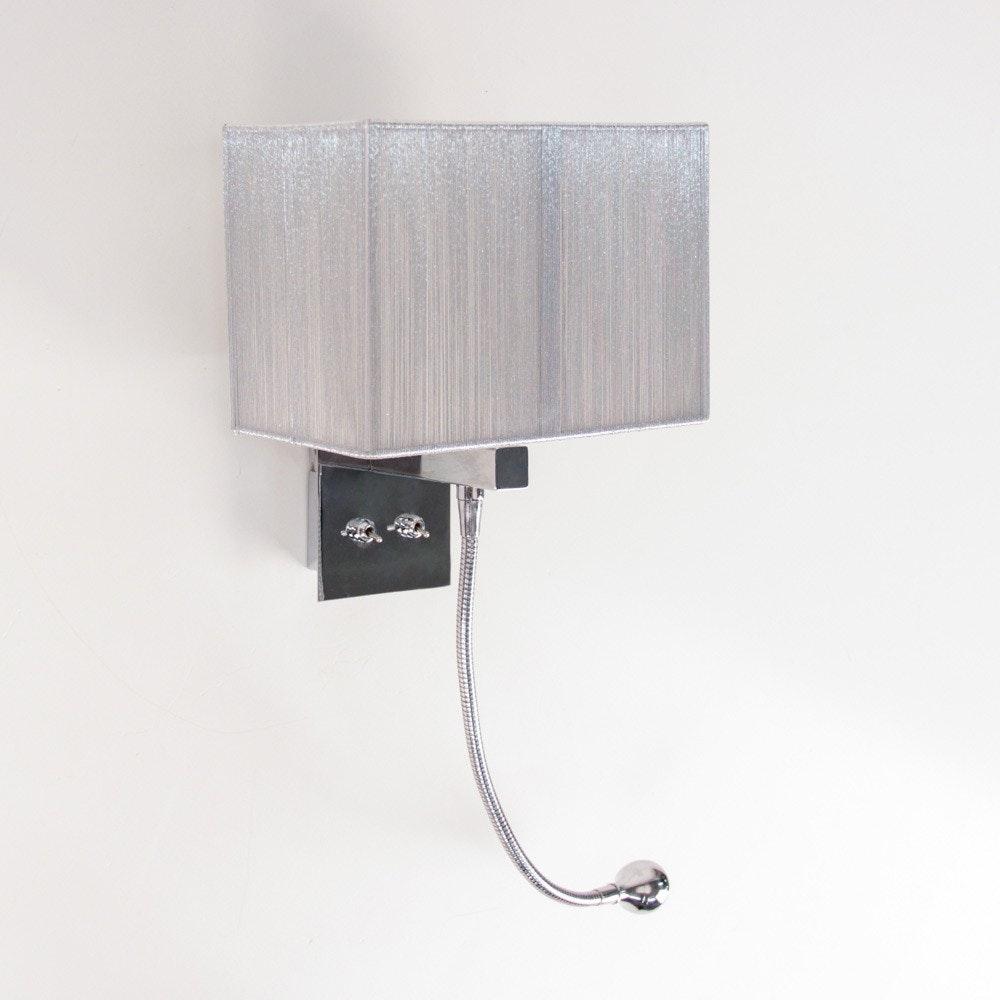 s.LUCE Twine Wandleuchte mit LED-Lesearm und Stoffschirm 2