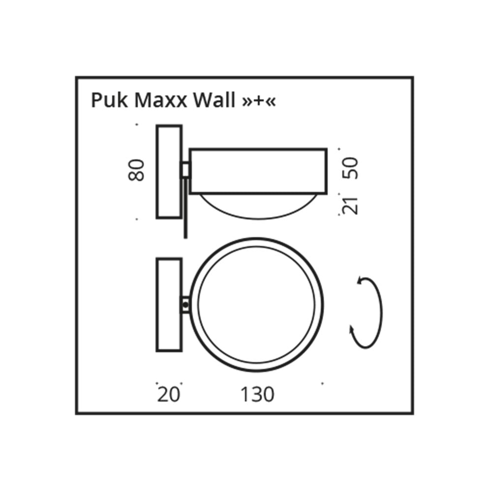 Top Light LED Wandlampe Puk Maxx Wall+ Drehbar thumbnail 6