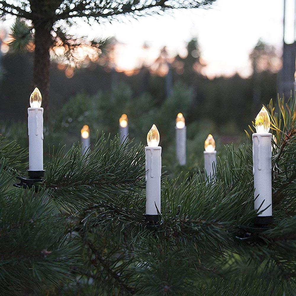LED-Kerzen für Außen 10-tlg. Kabellos mit Fernbedienung Warmweiß 1