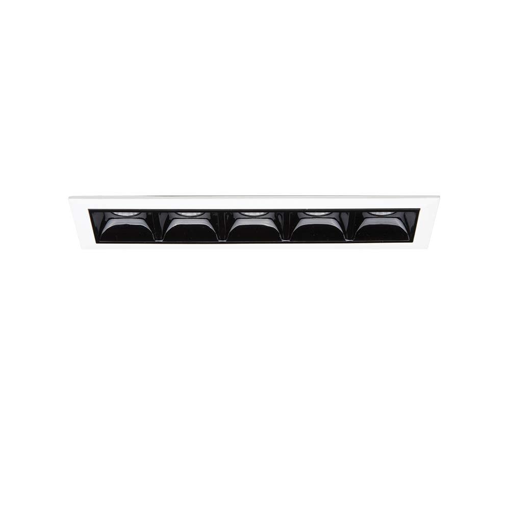 Ideal Lux LED Einbaustrahler Lika Fi5 Trim Weiß, Grau