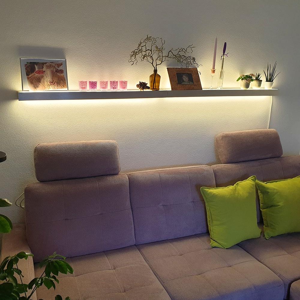 s.LUCE Cusa LED-Lichtboard 70cm Wandleuchte Up&Down Alu-gebürstet 17