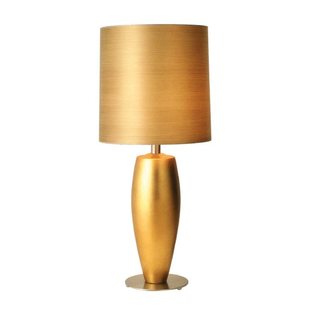 Tischleuchte Omega Sottile Grande Keramik-Metall Blattvergoldet-Vernickelt 2