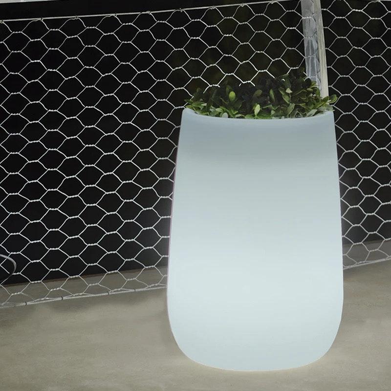 Licht-Trend Camelia High LED Solar-Dekotopf mit Beleuchtung und Fernbedienung 1
