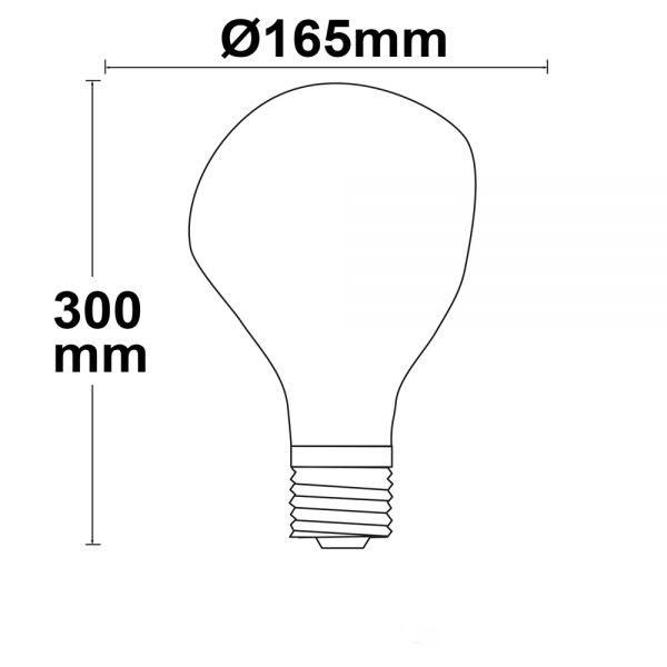 E27 LED Tropfen Ø16,5cm dimmbar 4W extra Warmweiss 2200K  2