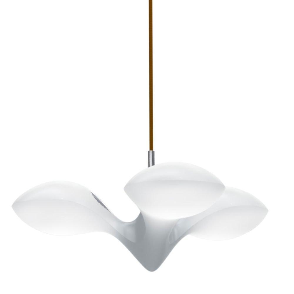 LED Hängeleuchte Enterprise 3-flammig Chrom, Holz, Weiß 2