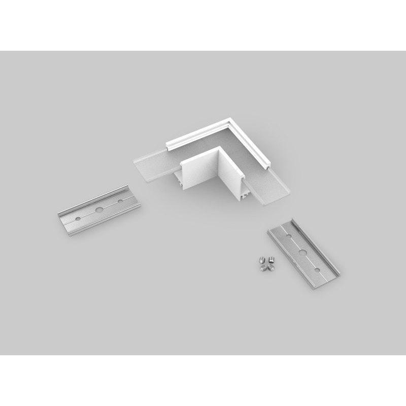 90° Ecke für Aufbauprofil tief Weiß 1