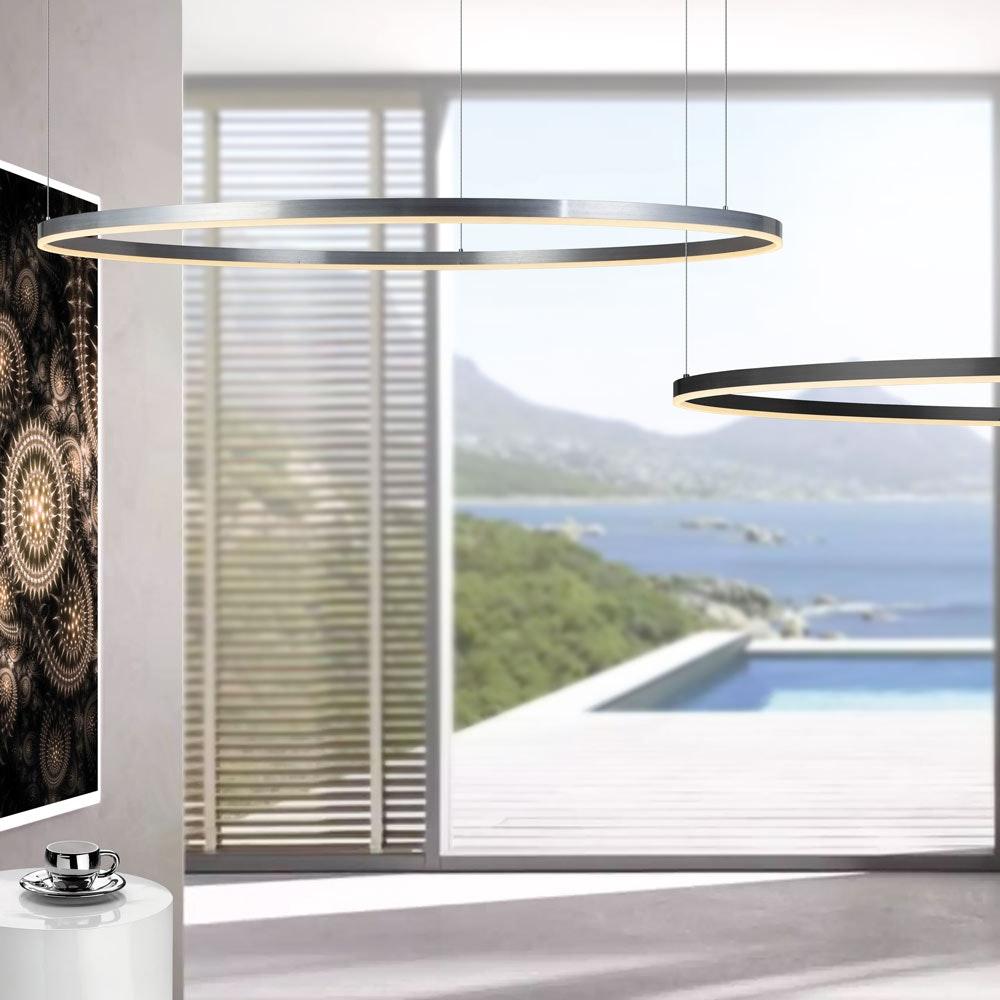 s.LUCE pro LED-Hängeleuchte Ring 3XL Ø 150cm Dimmbar 2
