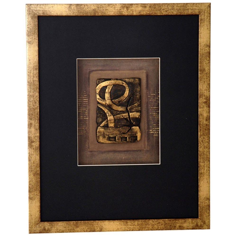 Wandbild Immagine 1 Holz-Glas-Kunststein Gold-Schwarz 2