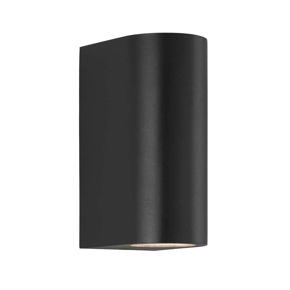 Nordlux LED Aussen-Wandleuchte Asbol IP44 Schwarz, Klar