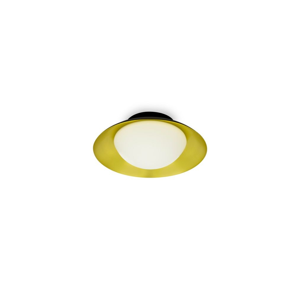 LED Deckenleuchte SIDE Schwarz, Goldfarben