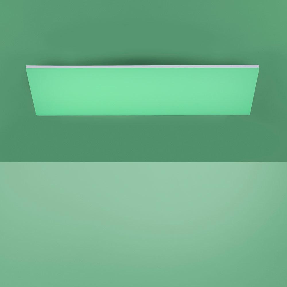 Q-Flat 2.0 rahmenlose LED Deckenlampe 60 x 30cm RGBW + FB Weiß 5