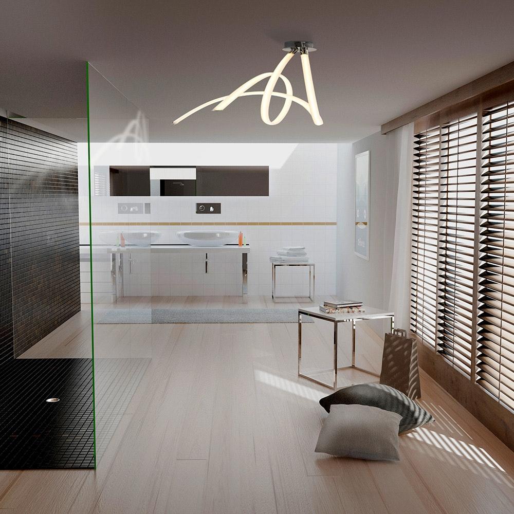 Mantra LED-Deckenleuchte Spirale Armonia 66cm 1
