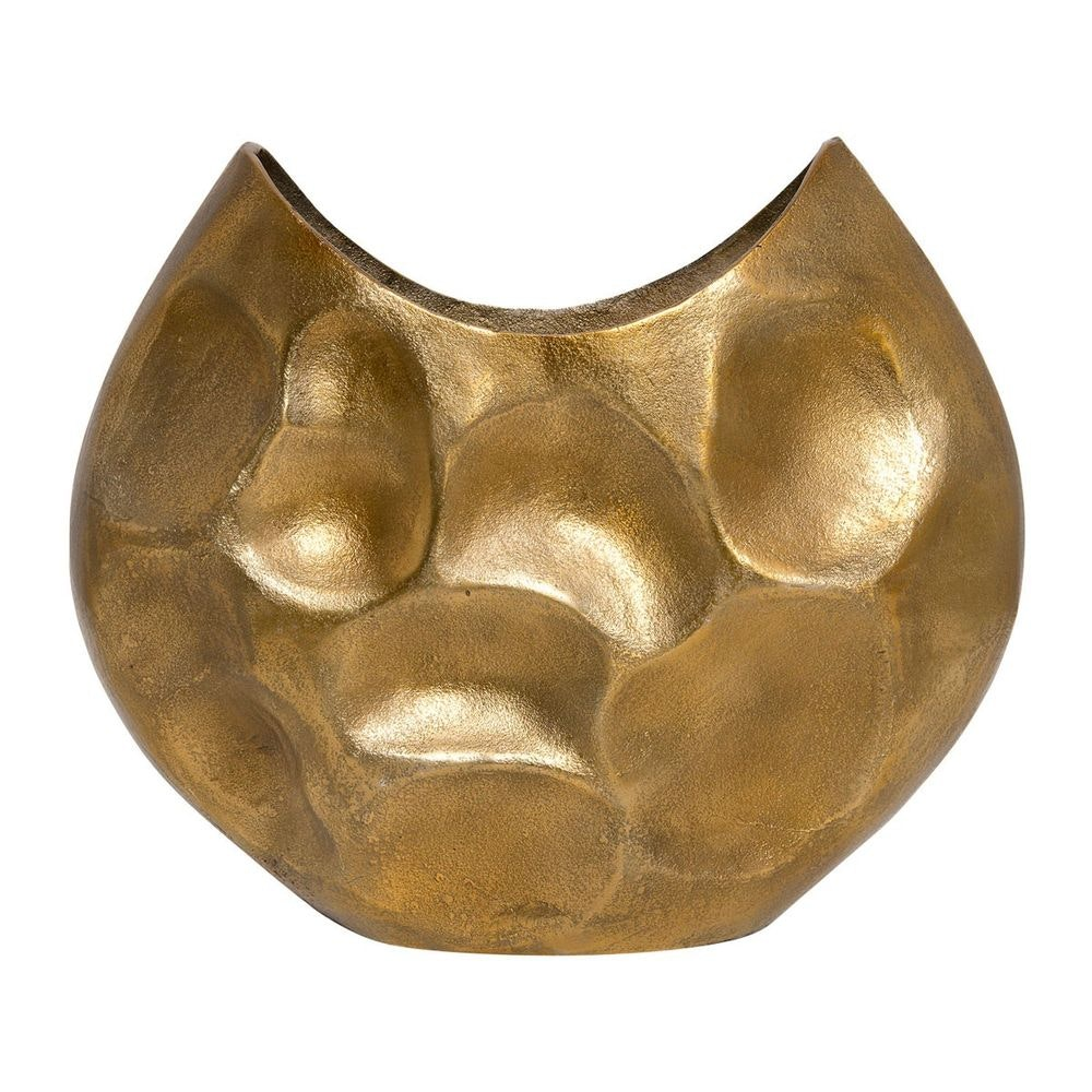 Dekovase Rustica Oval Gross Aluminium Gold 3
