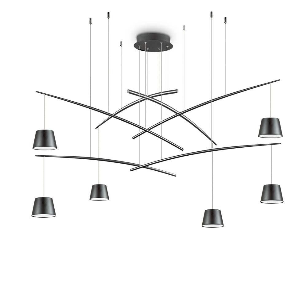 Ideal Lux LED Pendelleuchte Fish 6-flg. Schwarz 2