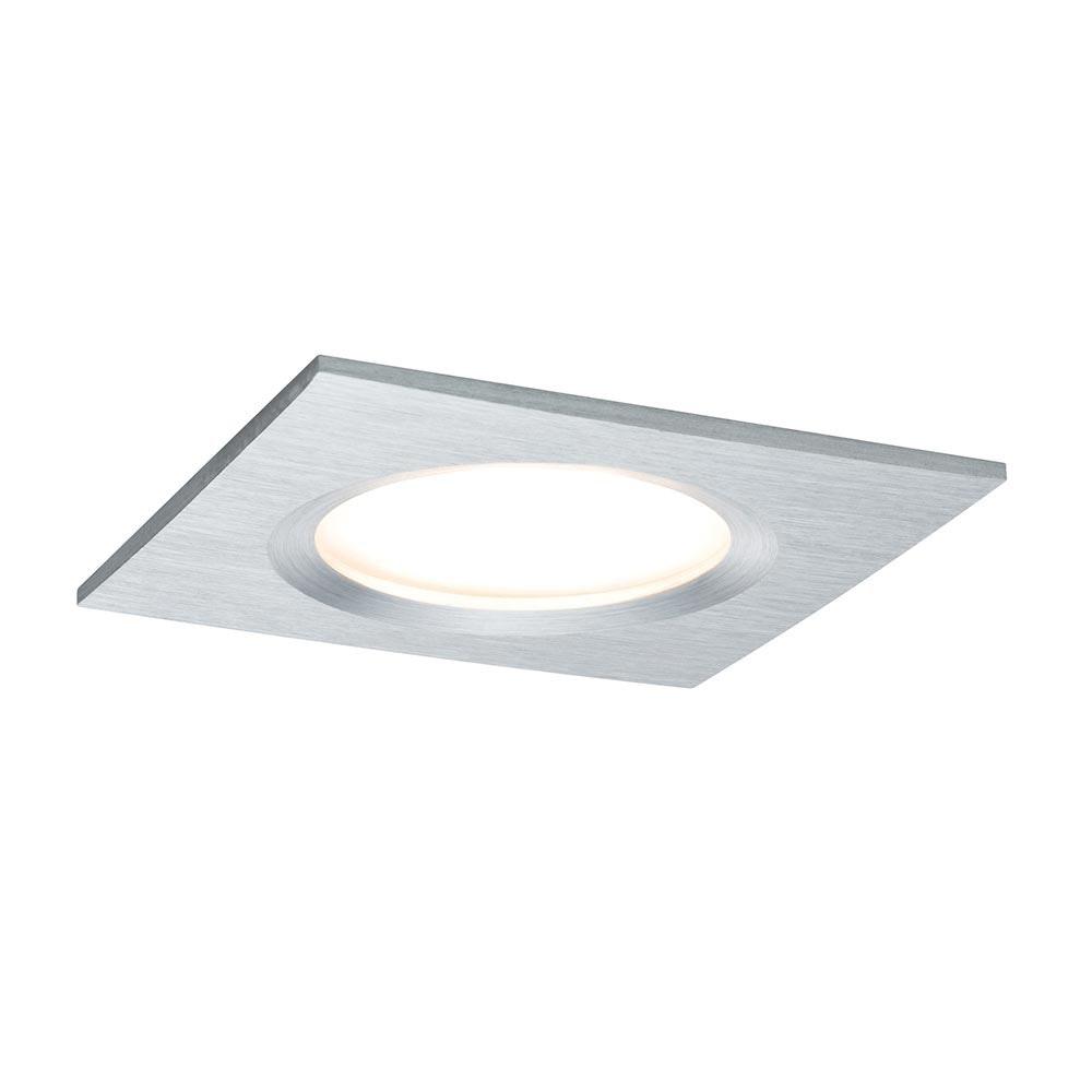 Einbauleuchte LED Coin Slim IP44 eckig 6,8W Alu dimmbar 1