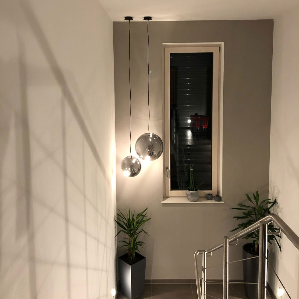 s.LUCE pro Sphere Galerieleuchte Glaskugel 5m Abhängung 10