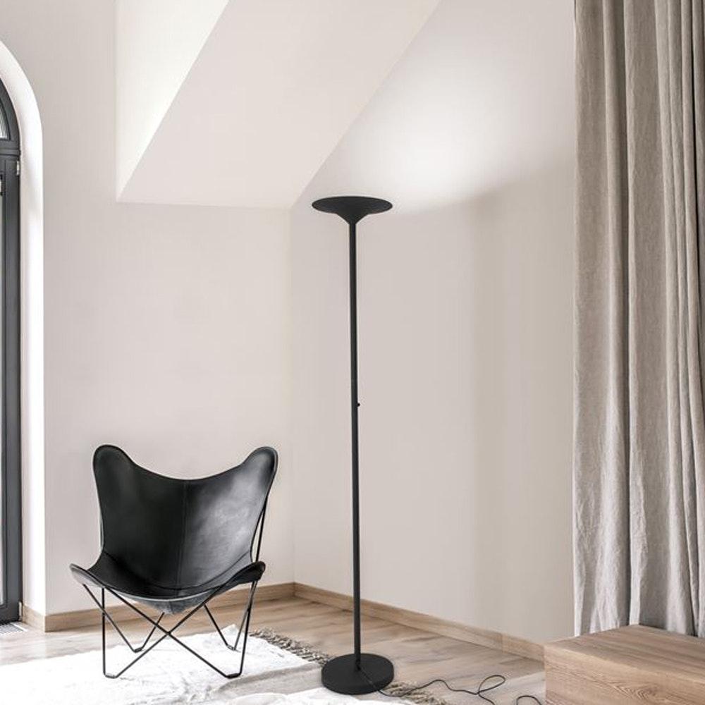 Nova Luce Rocco LED-Stehlampe Schwarz 1