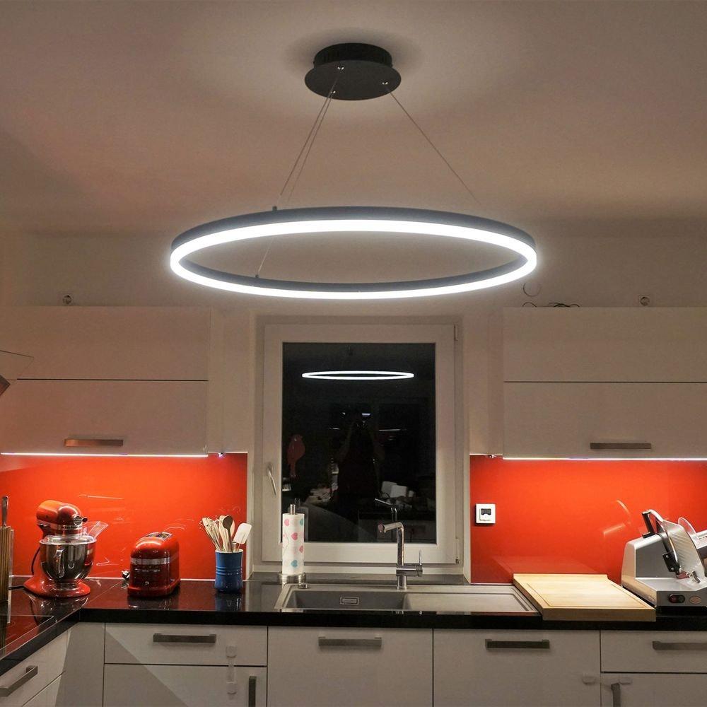 Ring M LED-Hängeleuchte dimmbar über Schalter Ø 60cm Anthrazit 2